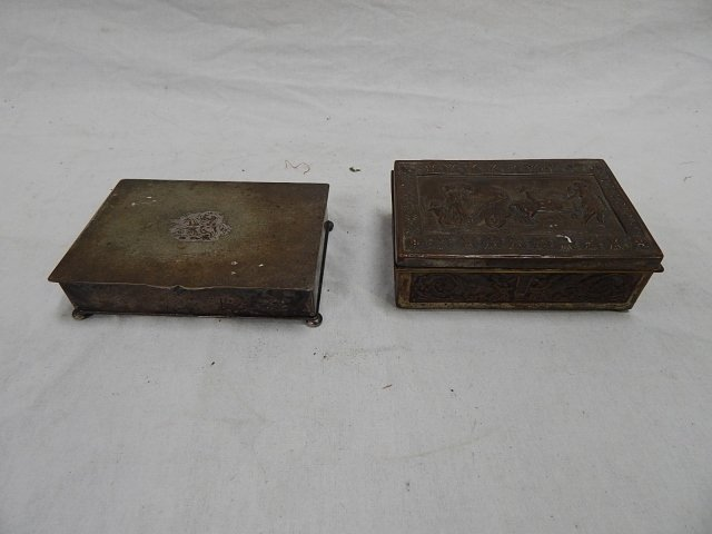 TWO SILVER PLATE BOXES