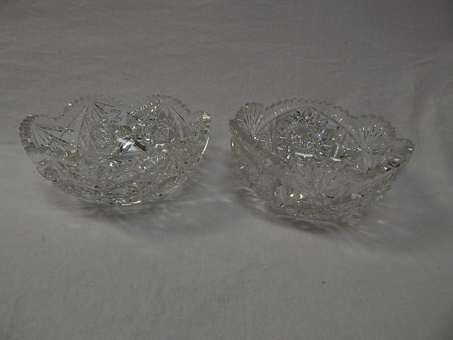 TWO CUT GLASS BOWLS