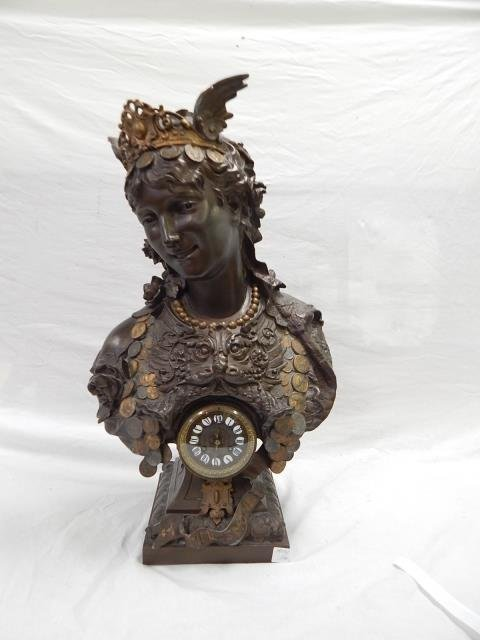 BUST OF GYPSY WOMAN ENTITLED TIME IS MONEY