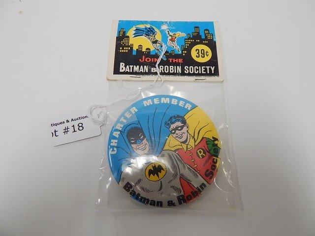 BATMAN AND ROBIN SOCIETY PIN