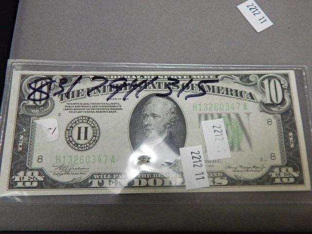 1934 $10 BILL