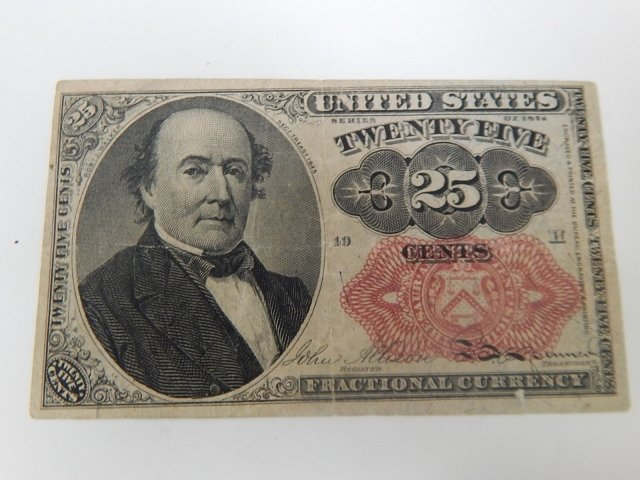 UNITED STATES 25 CENT FRACTIONAL CURRENCY