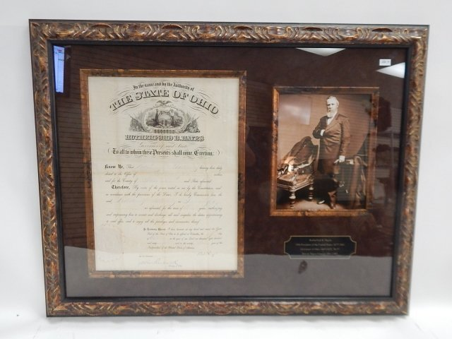 RUTHERFORD B. HAYES PHOTO AND DOCUMENT
