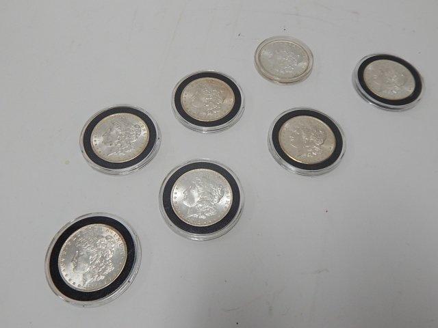 SEVEN SILVER DOLLARS 1880-1900