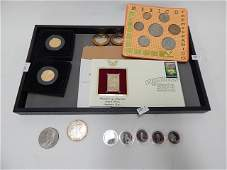 LOT OF COINS AND STAMP