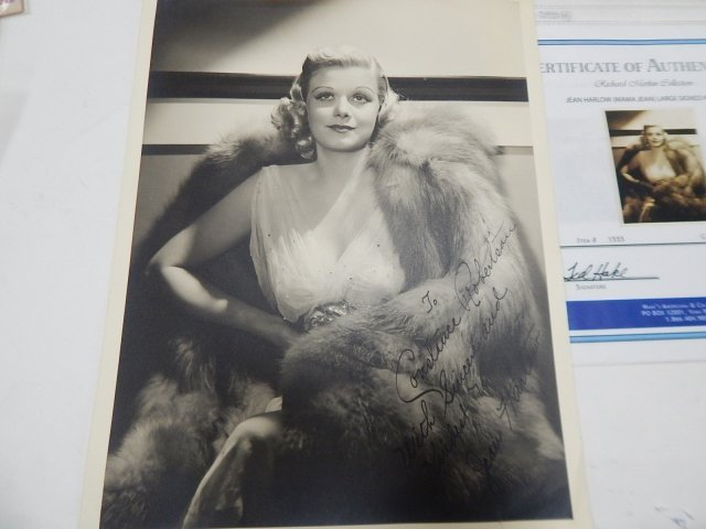 AUTOGRAPH OF  JEAN HARLOW & NUDE BOOKS - 5