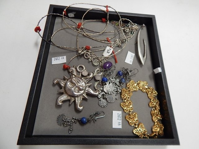 LOT OF STERLING AND COSTUME JEWELRY