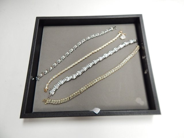 4 STERLING BRACELETS WITH STONES