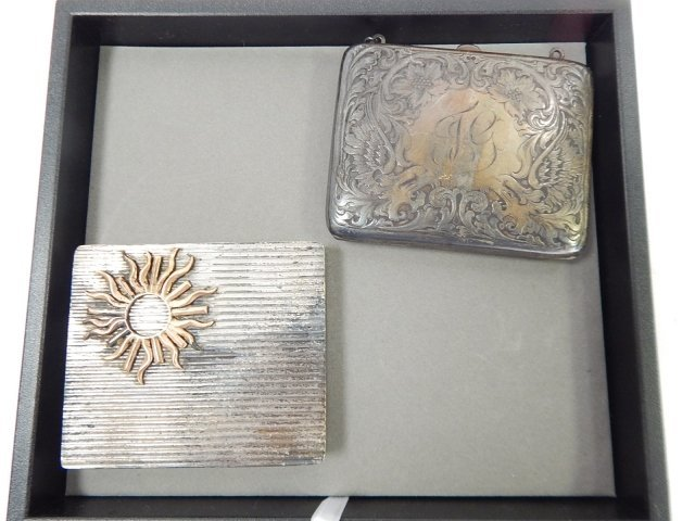 STERLING COMPACT AND PURSE