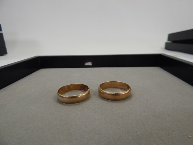 TWO 14 k GOLD BANDS