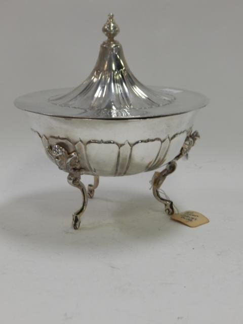 SANBORN STERLING FOOTED  COMPOTE