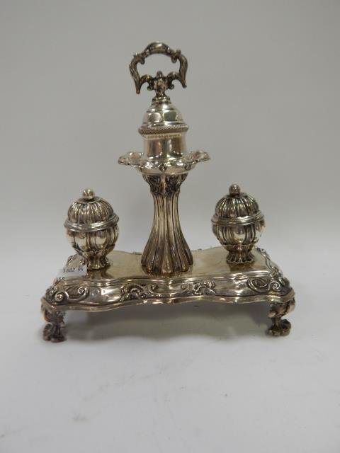 STERLING SILVER SERVING PIECE WITH BELL