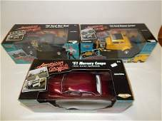 THREE AMERICAN MUSCLE CARS 1/18 SCALE