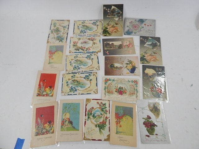 19 ASSORTED HOLIDAY POSTCARDS