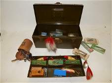 FISHING TACKLE BOX AND LURES