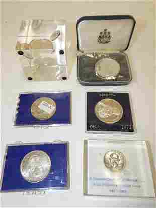 PAPERWEIGHTS AND FOREIGN COINS
