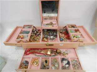 LOT OF COSTUME JEWERLY IN BOX