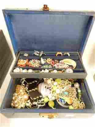 LOT OF COSTUME JEWERLY W/ BOX
