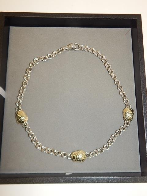 STERLING SILVER AND GOLD TURTLE NECKLACE