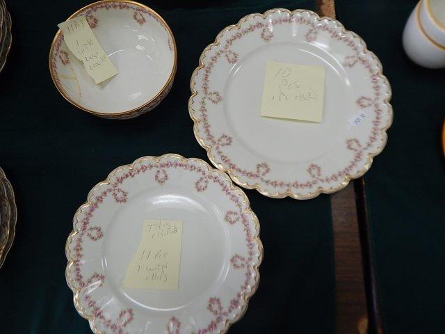 HAVILAND LIMOGES SET OF DISHES - 10