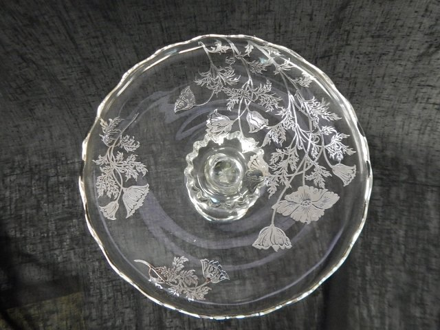 SILVER OVERLAY CAKE PLATE