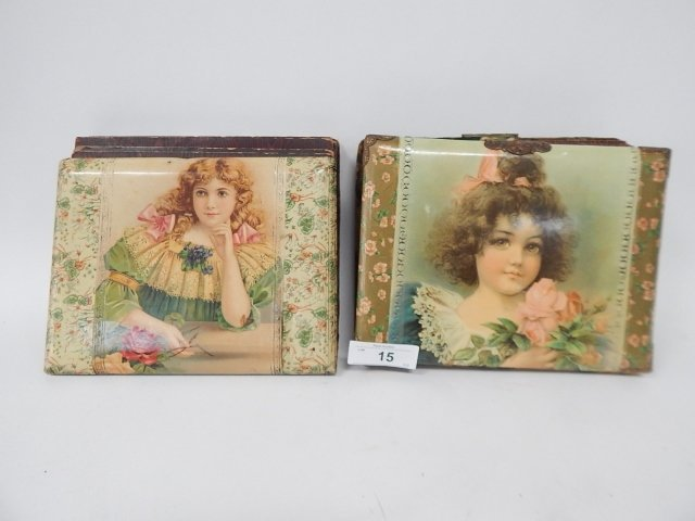 TWO CELLULOID VICTORIAN PHOTO ALBUMS
