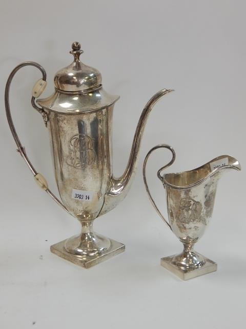 STERLING 1/2 PINT TEAPOT WITH CREAMER