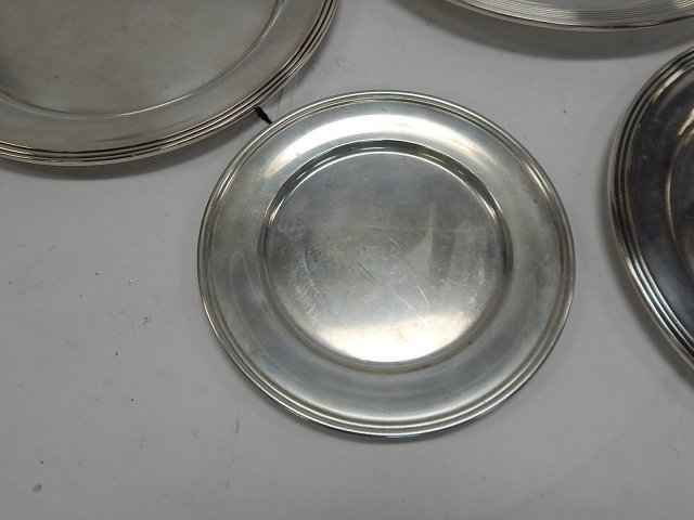 FOUR STERLING SILVER PLATES - 3