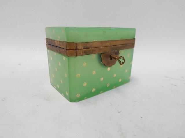 GREEN GLASS DRESSER BOX