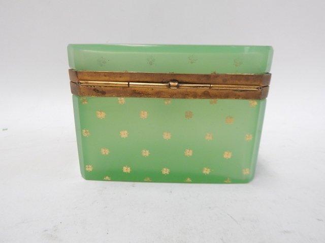 GREEN GLASS DRESSER BOX - 2