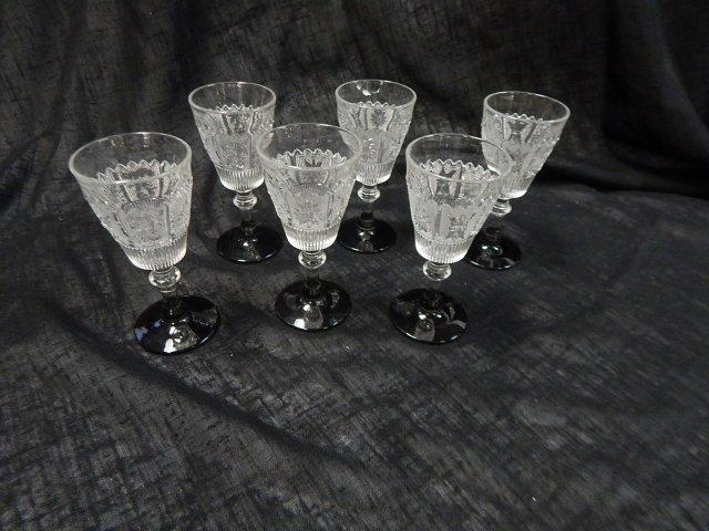 SIX CORDIAL GLASSES