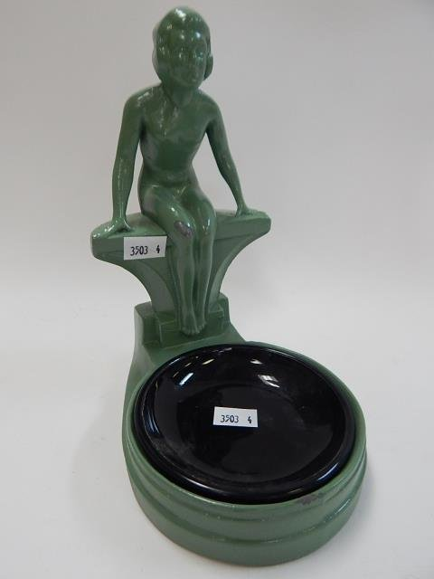 NUDE DECO ASHTRAY WITH INSERT