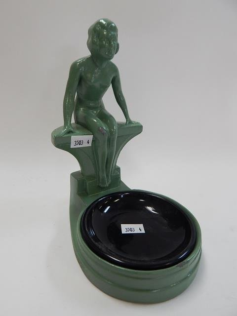 NUDE DECO ASHTRAY WITH INSERT - 2