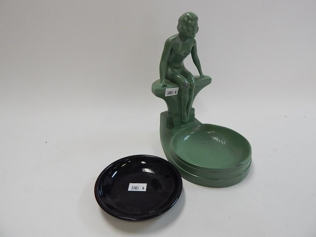 NUDE DECO ASHTRAY WITH INSERT - 3