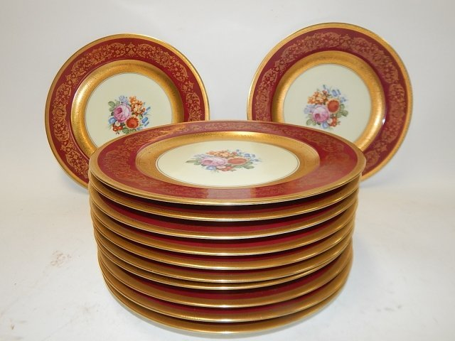 TWELVE BAVARIAN DINNER PLATES - 2