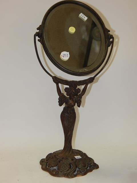 FIGURAL MIRROR WITH LADY
