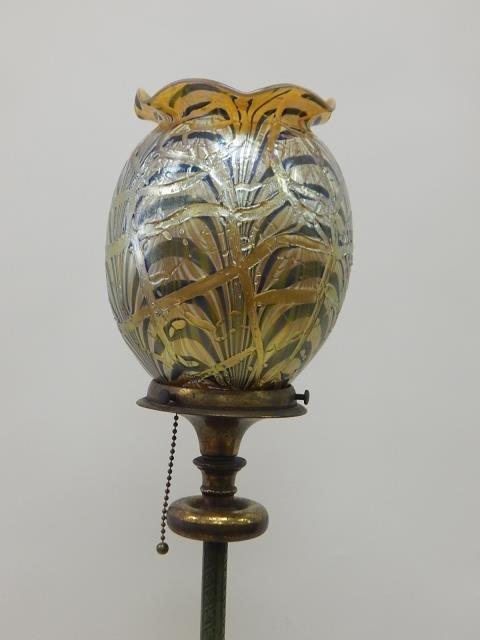 DURAND ART GLASS SHADE ON FLOOR LAMP - 2