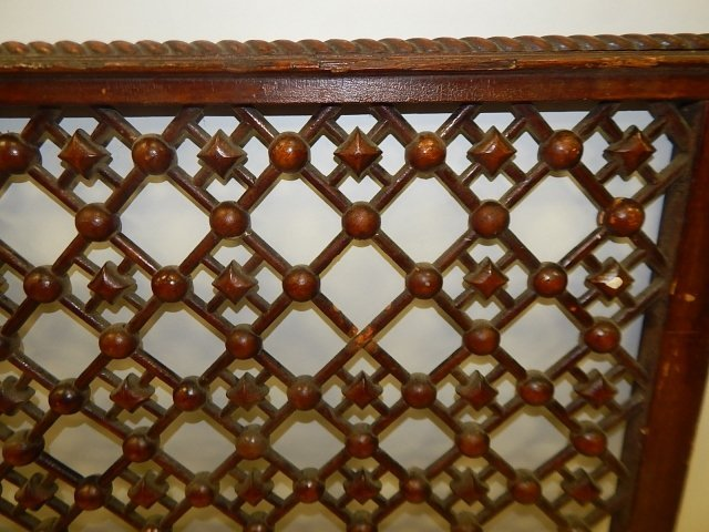 STICK AND BALL OAK FRETWORK - 2