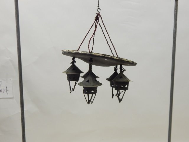 ROY CROFT HAND HAMMERED HANGING FIXTURE
