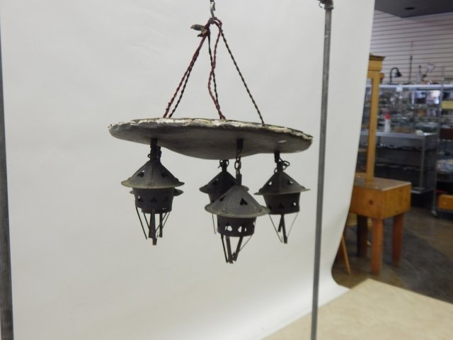 ROY CROFT HAND HAMMERED HANGING FIXTURE - 3