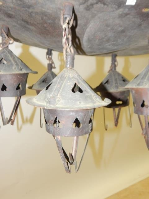 ROY CROFT HAND HAMMERED HANGING FIXTURE - 5