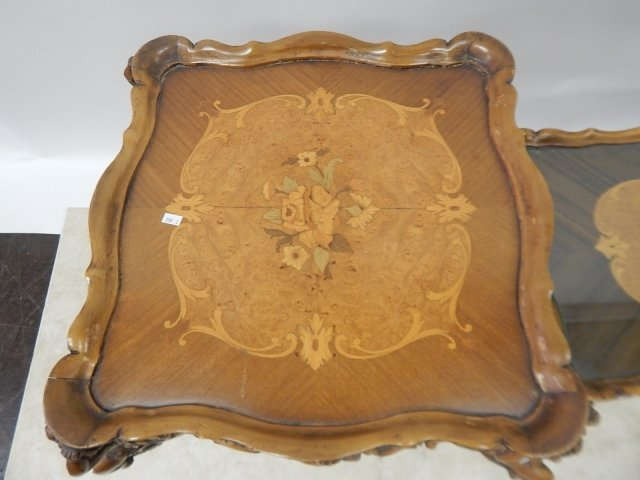 SET OF 3 FRENCH INLAID TABLES - 4