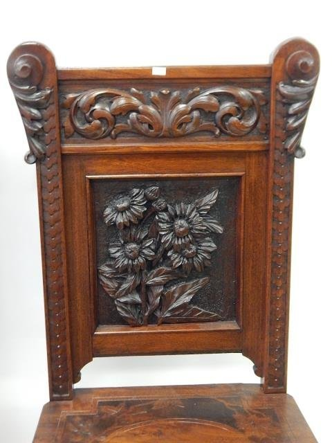 CARVED MAHOGANY CHAIRS - 3