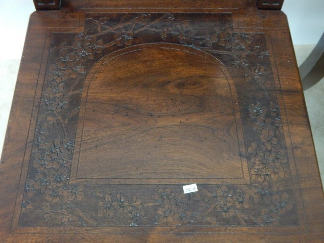 CARVED MAHOGANY CHAIRS - 4