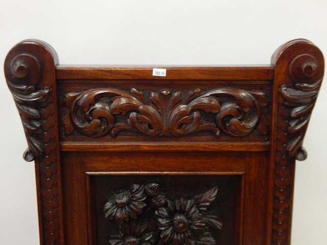 CARVED MAHOGANY CHAIRS - 7