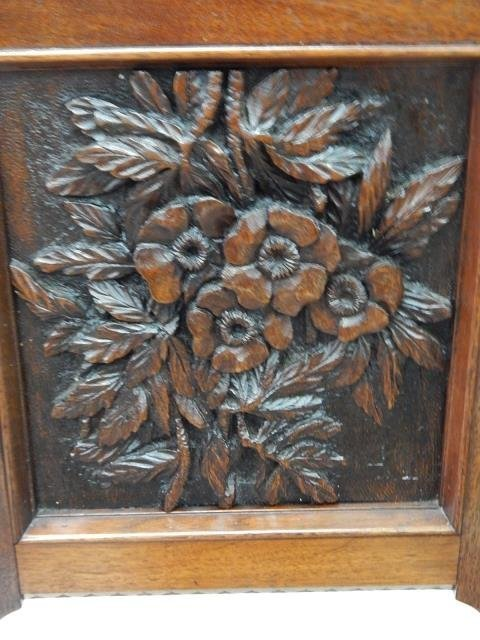 CARVED MAHOGANY CHAIRS - 9