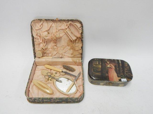 VICTORIAN CELLULOID DRESSER BOXES