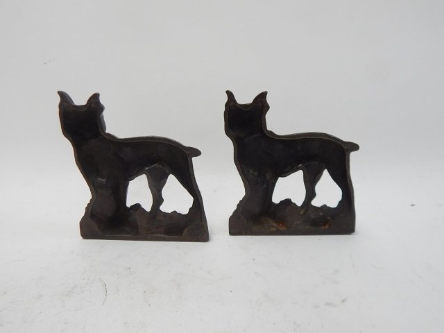 CAST IRON BULLDOG BOOKENDS - 2