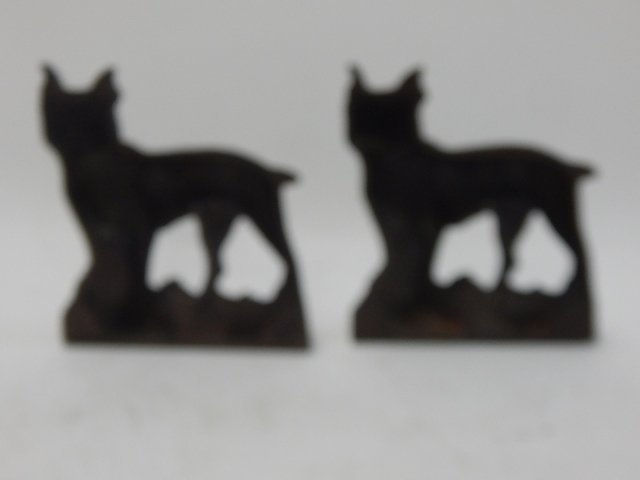CAST IRON BULLDOG BOOKENDS - 3