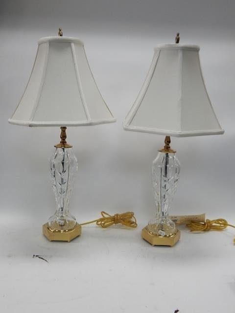 PAIR OF WATERFORD TABLE LAMPS